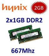 2x 1GB = 2GB KIT DDR2 667 Mhz PC2-5300 SO-DIMM