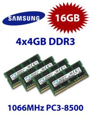 4x 4GB = 16GB KIT DDR3 RAM 1066 Mhz PC3-8500 SO-DIMM