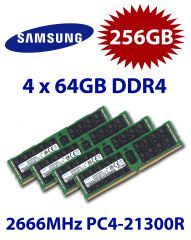 4x 64GB = 256GB KIT DDR4 RAM 2666 Mhz PC4-21300 DIMM ECC REG
