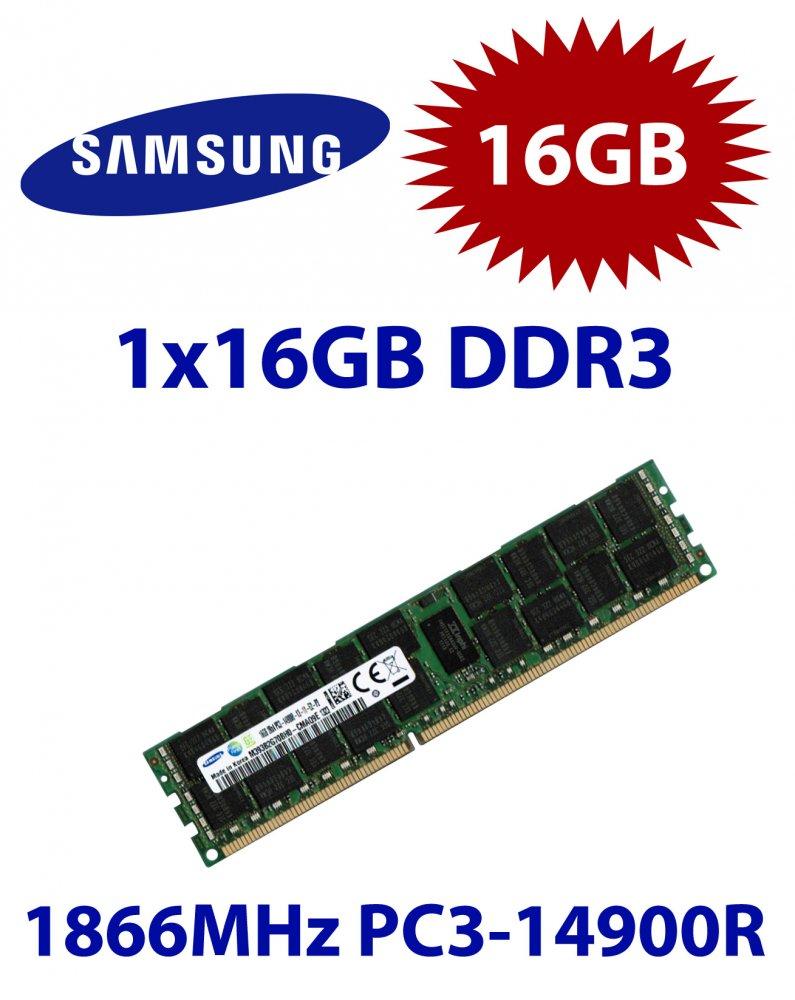 Samsung 16gb Modul Ddr3 Ram 1866 Mhz Pc3 14900r Ecc Reg Dimm Memory Server 12800r Rdimm