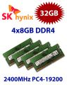 4x 8GB = 32GB KIT DDR4 RAM PC4-19200 2400MHz SO-DIMM