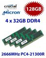 4x 32GB = 128GB KIT DDR4 RAM 2666 Mhz PC4-21300 DIMM ECC REG