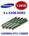4x 32GB = 128GB KIT DDR3 RAM 1600 Mhz PC3-12800R ECC REG DIMM
