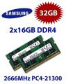 2x 16GB = 32GB KIT DDR4 RAM PC4-21300 2666MHz SO-DIMM