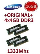 4x 4GB = 16GB KIT DDR3 RAM 1333 Mhz PC3-10600 SO-DIMM