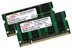 2GB + 4GB = 6GB KIT DDR2 RAM 667 Mhz PC2-5300 SO-DIMM