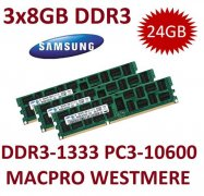 3x 8GB = 24GB KIT DDR3 RAM 1333 Mhz PC3-10600R ECC REG DIMM