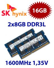2x 8GB = 16GB KIT DDR3L RAM 1600 Mhz PC3-12800 SO-DIMM