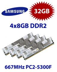 4x 8GB = 32GB KIT DDR2 667 Mhz PC2-5300F FB-DIMM