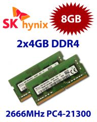 2x 4GB = 8GB KIT DDR4 RAM PC4-21300 2666MHz SO-DIMM