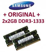 2x 2GB =4GB KIT DDR3 RAM 1333 Mhz PC3-10600 SO-DIMM