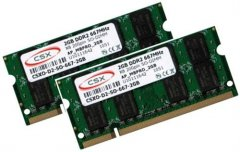 2x 2GB = 4GB KIT DDR2 667 Mhz PC2-5300 SO-DIMM