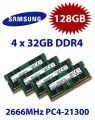 4x 32GB = 128GB KIT DDR4 RAM PC4-21300 2666MHz SO-DIMM
