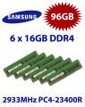 6x 16GB = 96GB KIT DDR4 RAM 2933 Mhz PC4-23400 DIMM ECC REG