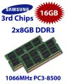 2 x 8GB = 16GB 1066MHz DDR3 SO-DIMM PC8500 204 Pin